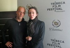 Yves Montmayeur and Anne-Katrin Titze at the Tribeca Film Festival. Photo by Max Rissman.