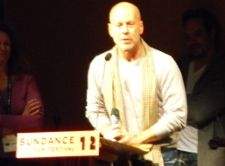 Bruce Willis on stage at Sundance 2012
