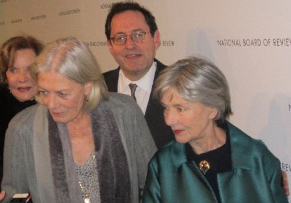 Vanessa Redgrave and Emmanuelle Riva with Sony Pictures Classics' Michael Barker</em>