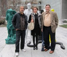 Giorgelli, Titze and Peña in MoMA's Sculpture Garden