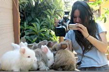 Director Amy Do and her fluffy subjects