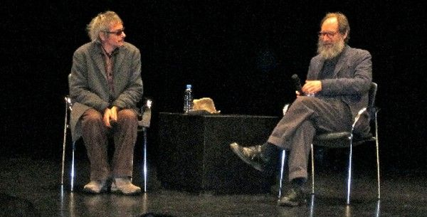 Léos Carax and The New Yorker film critic Richard Brody <em>Photo: Anne-Katrin Titze</em>
