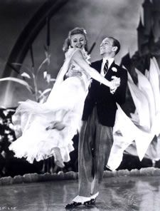 Fred Astaire, here with Ginger Rogers, composed shots as though the screen were a stage