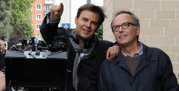 François Ozon on the set of In The House with Fabrice Luchini - simply a joy to direct <em>Photos: Mars Distribution</em>