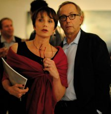 Fabrice Luchini as Germain and Kristin Scott Thomas as his wife Jeanne