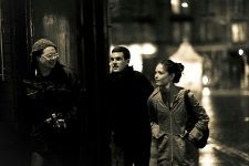 Rob, Adam and Kristin in Leith