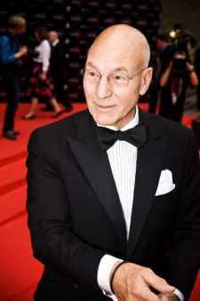 Patrick Stewart proved one of the biggest hits of the night