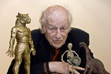 Ray Harryhausen with some of his pals