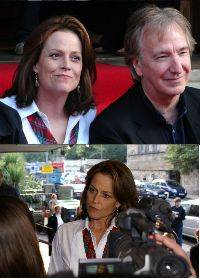 Sigourney Weaver and Alan Rickman