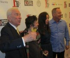 Gay Talese, Christine Vachon, Anne-Katrin Titze, Fred Schneider on the red carpet <em>Photo: Ed Bahlman</em>