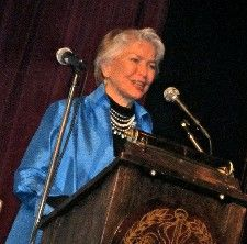 Ellen Burstyn, host for the evening's celebration of film at the Players Club <em>Photo: Anne-Katrin Titze</em>