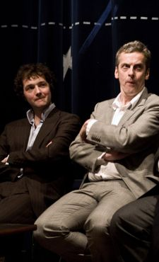 Chris Addison and Peter Capaldi at post-screening Q&A; Photographs: Stuart Crawford