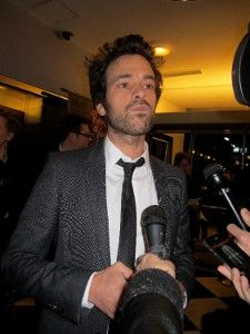 Romain Duris felt a bit like Cary Grant later that night <em>Photo: Anne-Katrin Titze</em>
