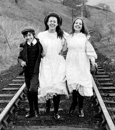 Jenny Agutter and her fellow stars in her breakout role in The Railway Children