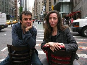 Javier Rebollo on the road with Anne-Katrin Titze in New York City <em>Photo: Eric Schnedecker</em>