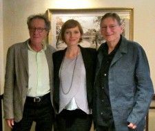 Geoffrey Rush, Fred and Alexandra Schepisi in The Regency Hotel, New York