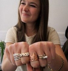 Juliette Eisner and her rings - they're going to be an instagram hit <em>Photo: Anne-Katrin Titze</em>