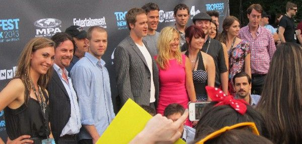 <b>Tropfest filmmakers: Back row - Carmine Famiglietti, Tom Lipinski, David Eisenberg, Max Damashek; Middle row - Lyndal Moody, Nick Petrie, Scott Holgate, Alexander Poe, Eve Danzeisen, Jessica M. Thompson, Christo Erasmus, Kaela Wohl, Maria Gordillo, Jonathan Emmerling; Front row - Timothy Blackburn, Tropfest winners in hiding Tristan Klein and Nick Baker </b> <em>Photo: Ed Bahlman