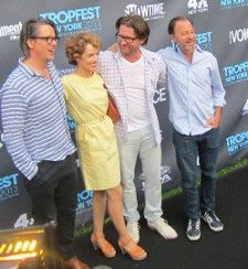<b>Charles Randolph, his wife actress Mili Avital, Tropfest founder John Polson, Fisher Stevens</b> <em>Photo: Anne-Katrin Titze