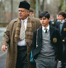 Om Puri and Aqib as father and son