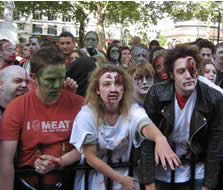 Undead were out in force for the Zombie Walk <i>Photo: Anton Bitel</i>