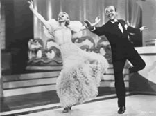 Ginger Rogers and Fred Astaire in 1936 Hollywood classic Swing Time