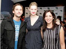 Director Mat Whitecross, actress Romola Garai, producer Karen Katz at World Premiere of Mat Whitecross' Moving to Mars: A Million Miles from Burma at Sheffield Doc/Fest