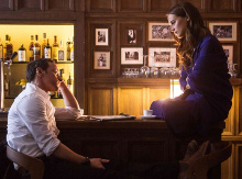 James McAvoy and Alicia Vikander in Submergence