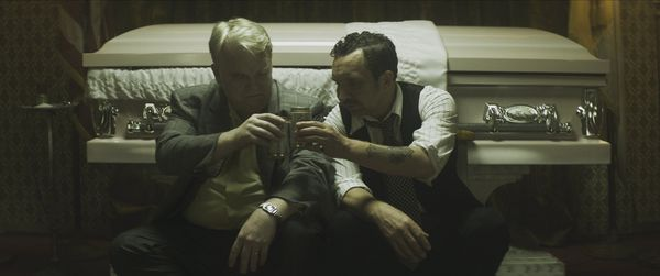 Philip Seymour Hoffman and Eddie Marsan in God's Pocket