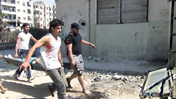 "Return To Homs.  ""Perhaps the most immersive film you've ever seen about being inside a war"""