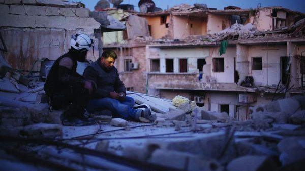 Last Men In Aleppo - after five years of war in Syria, Aleppo's remaining residents prepare themselves for a siege. Khalid, Subhi and Mahmoud, founding members of humanitarian organisation The White Helmets, have remained in the city to help their fellow citizens — and experience daily life, death, struggle and triumph in a city under fire.
