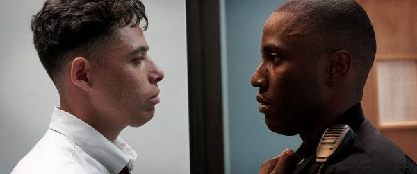Anthony Ramos and John David Washington in Monsters And Men - This interwoven narrative explores the aftermath of a police killing of a black man. The film is told through the eyes of the bystander who filmed the act, an African-American police officer and a high-school baseball phenom inspired to take a stand.