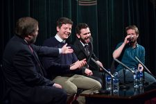 Allan Hunter talks to Douglas King, Sean Biggerstaff and Darren Osborne