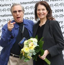 William Friedkin, subject of a Cannes master-class this year, pictured here with his wife Sherry Lansing at the Karlovy Vary International Film Festival