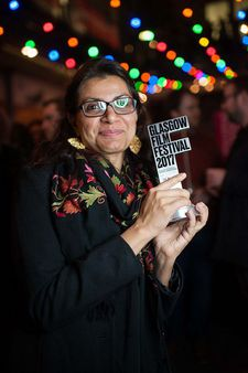 Alankrita Shrivastava with her award from the Glasgow Film Festival