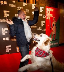 George greets Isle Of Dogs producer Jeremy Dawson