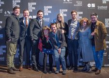 Douglas King, Sean Biggerstaff, Darren Osborne, Janey Godley and friends on the red carpet