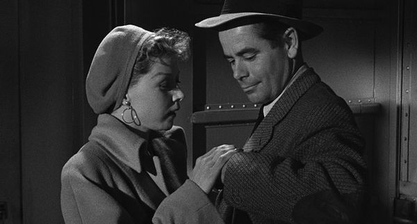 Gloria Grahame and Glenn Ford in Human Desire