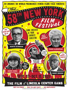 58th New York Film Festival poster designed by John Waters