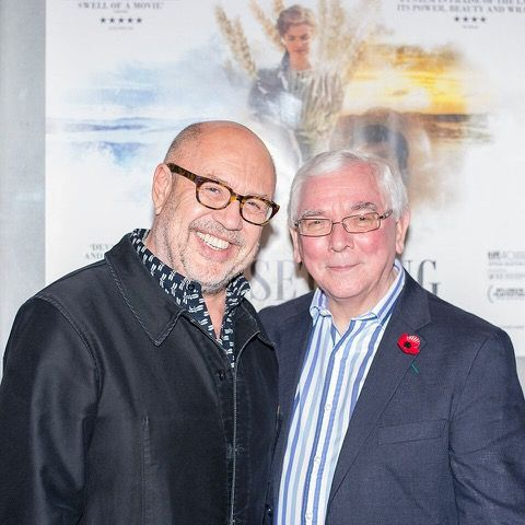 Stefan Liberski and Terence Davies in Edinburgh last night.