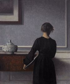William Oldroyd says Vilhelm Hammershøi paints 'a lot of faceless women and I thought, 'This could be Katherine'.'