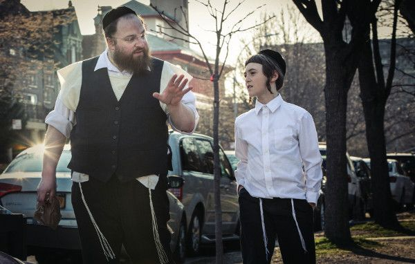Menashe Lustig and Ruben Nyborg in Menashe - Within Brooklyn's ultra-orthodox Jewish community, a widower battles for custody of his son. A tender drama performed entirely in Yiddish, the film intimately explores the nature of faith and the price of parenthood.