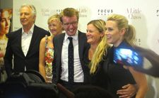 A Little Chaos on the red carpet - Alan Rickman, producer Gail Egan, composer Peter Gregson, cinematographer Ellen Kuras and Kate Winslet
