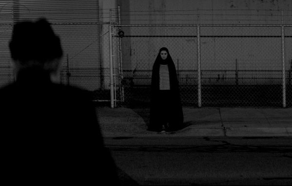 Sheila Vand and Marshall Manesh in A Girl Walks Home Alone At Night