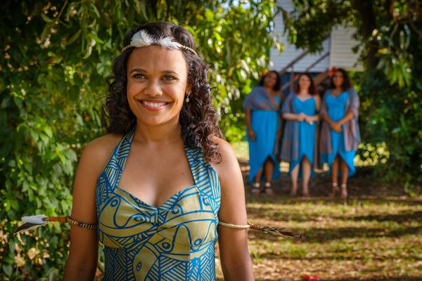 Miranda Tapsell, pictured as Lauren: 'The places we visited forced you to be present. I think that's another part of the film that's so universal'