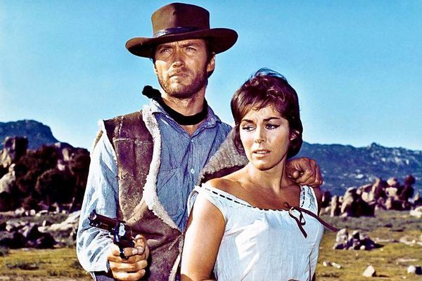 Clint Eastwood and Marianne Koch in A Fistful Of Dollars, closing choice for the Cannes Film Festival on 24 May.