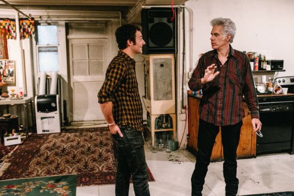 "Aaron Brookner with Paterson and Gimme Danger director Jim Jarmusch - Sara Driver on Uncle Howard: ""I knew Howard's nephew Aaron was interested in filmmaking ..."""