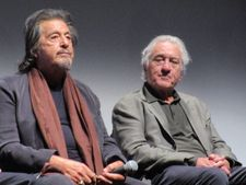 Al Pacino is Jimmy Hoffa and Robert De Niro is Frank Sheeran in The Irishman