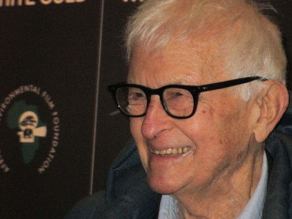 Documentarian Albert Maysles in support of documentary White Gold in 2013