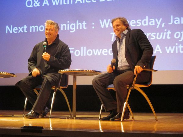 Alec Baldwin with director Michael Mailer at the Blind sneak preview hosted by the Lycée Français de New York
